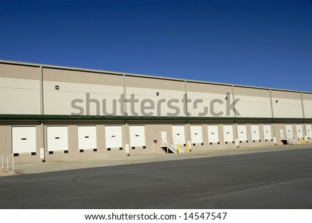 Loading Docks at a large commercial warehouse - stock photo