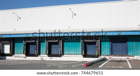 Loading Docks for Trucks at Long Distribution Warehouse