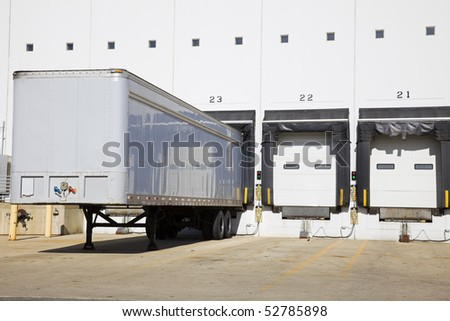 Loading docks in the industrial area. - stock photo