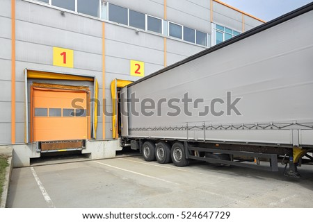 Loading Lorry Trailer at Warehouse Dock