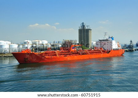 loading of chemical tanker in port