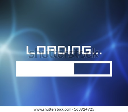Loading Screen - stock photo