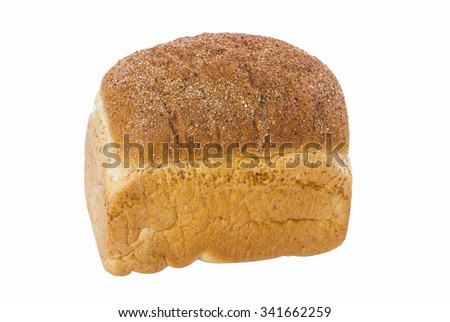 loaf bread on isolated background - stock photo