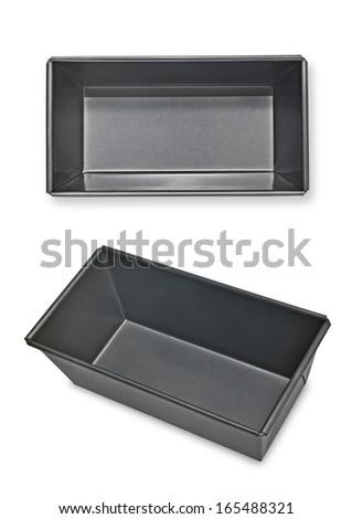 Loaf empty baking tin - stock photo