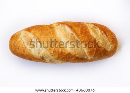 loaf isolated on white background - stock photo