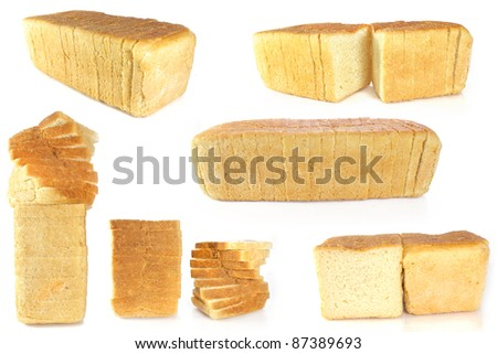 loaf of bread isolated - stock photo