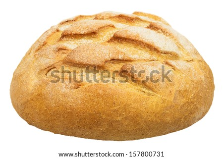 Loaf of bread. Isolated on white background. - stock photo