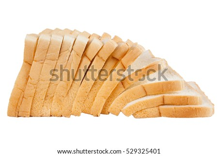 loaf of bread on white background(isolete)