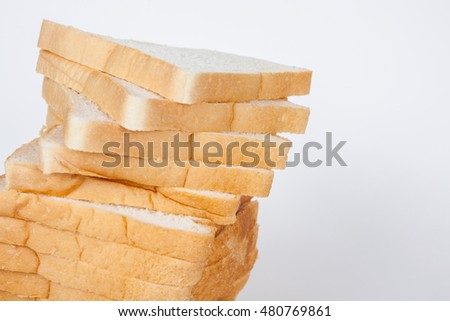 loaf of bread on white paper background