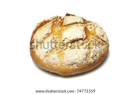 Loaf of bread. Studio photo of loaf of bread.  Isolated on white background. - stock photo