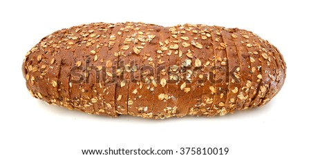 Loaf of fresh bread with sunflower seeds - stock photo