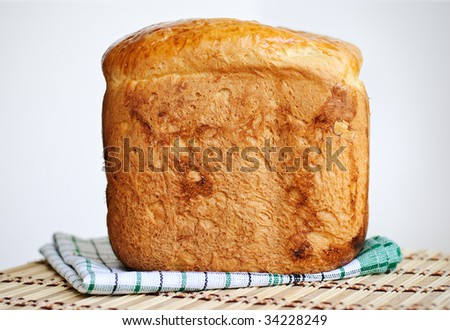 Loaf of homemade bread.