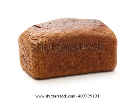 Loaf of oat bread on white background - stock photo