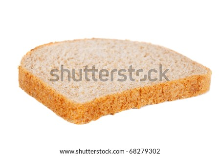 Loaf of sliced bread. Isolated on a white background - stock photo