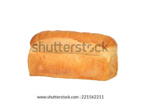 loaf of white bread - stock photo