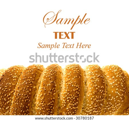 Loaf of wholemeal bread isolated over white background - stock photo