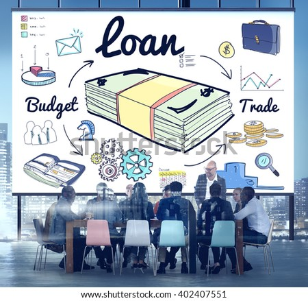 Loan Finance Economy Banking Accounting Concept - stock photo