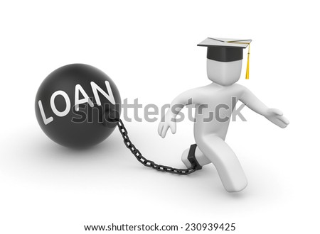 Loan for students - stock photo