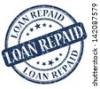 loan repaid stamp - stock photo