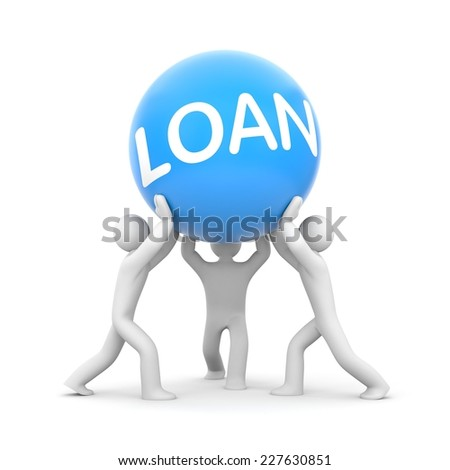 Loan. Teamwork metaphor - stock photo