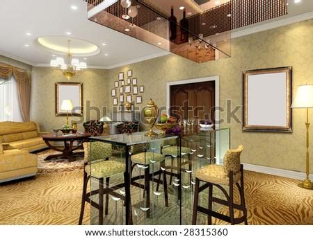lobby interior - stock photo