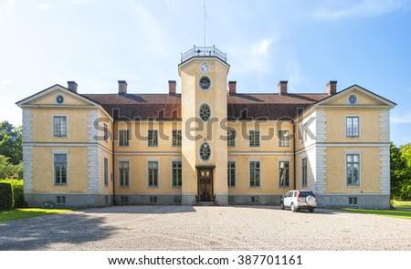 Loberod slott is a castle in Eslov Municipality, Scania, in southern Sweden. - stock photo