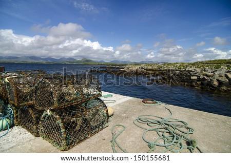 Lobstar traps, Galway Ireland - stock photo