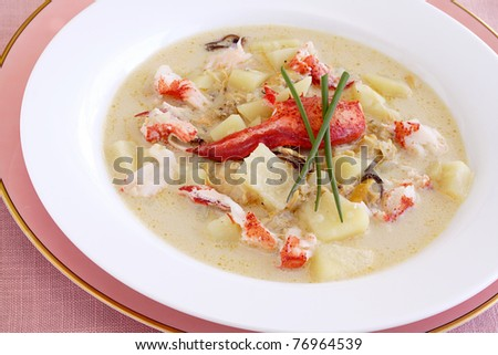 Lobster chowder - stock photo