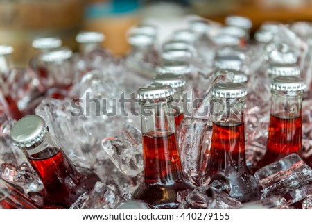 Bottles tasty drink ice stock photo 256791166 shutterstock for Cool alcoholic drink names