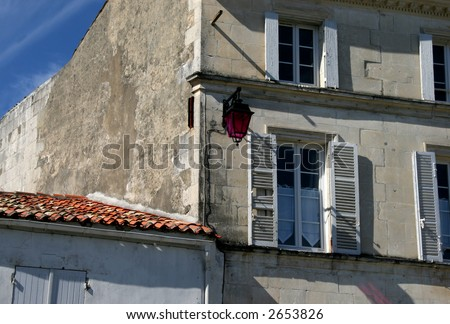 Local architecture in France - stock photo
