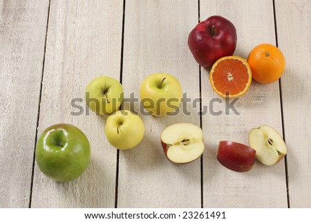 Local market fruit display. - stock photo