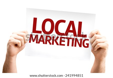 Local Marketing card isolated on white background - stock photo