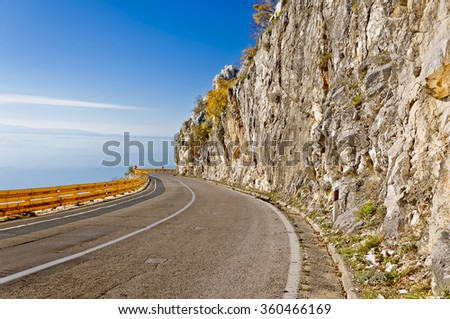 local road going from the seaside dalmatia to the inland dalmatia through stupica pass on the same route used by napoleon's army on which they originally have built their own road