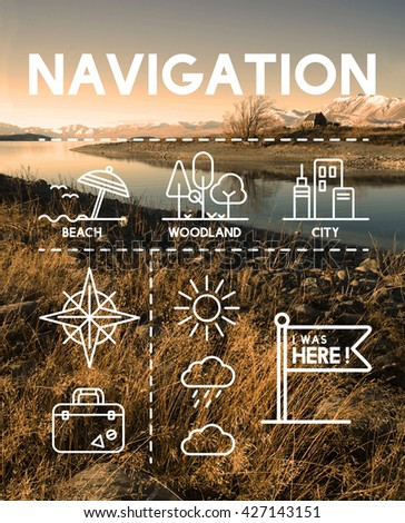 Location Mapping Journey Navigation Concept - stock photo