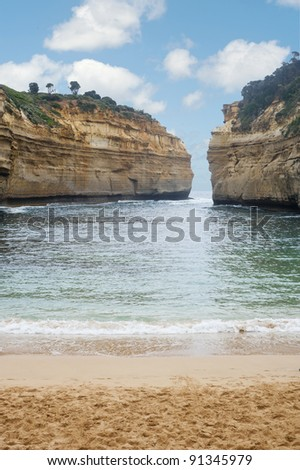 Loch and Gorge - Great Ocean Road - Audtralia - stock photo