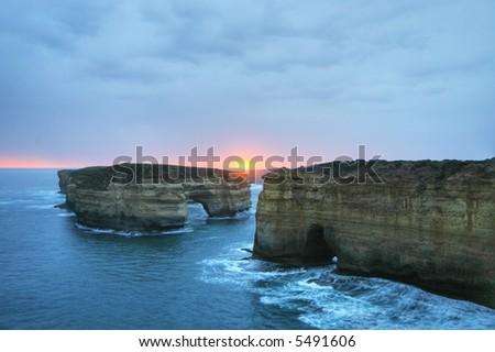 Loch Arch, London Bridge - Shipwreck coast, Australia - stock photo