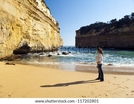 Loch Ard Gorge on the Great Ocean Road, Australia, near the Twelve Apostles