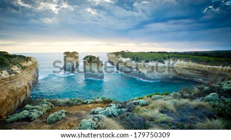 Loch Ard Gorge, Port Campbell National Park - stock photo