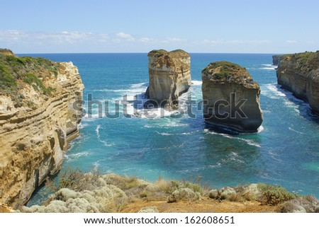 Loch Ard Gorge, Port Campbell National Park, Great Ocean Road, Victoria, Australia - stock photo