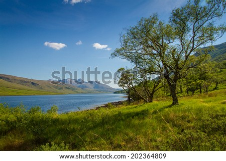 Loch Etive, Scotland - stock photo