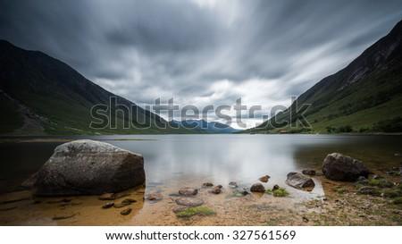 Loch Etive, Scotland - stock photo