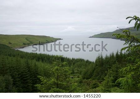 Loch Eynort Isle of Skye, Scotland - stock photo