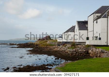 Loch Laphroaig bay on the island of Islay - stock photo