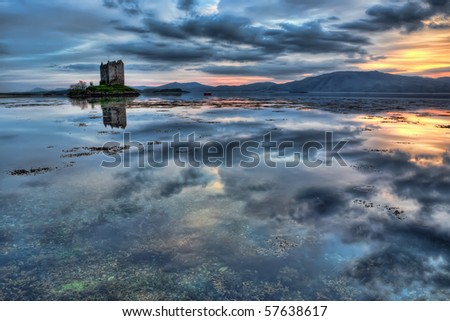 Loch Linnhe and the Stalker Castle