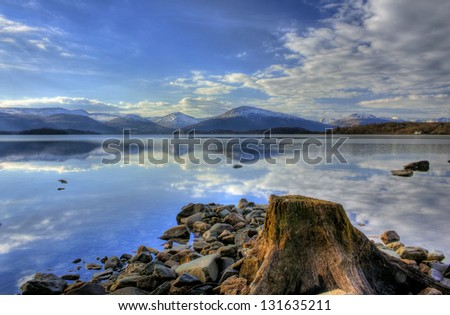 Loch Lomond Scotland - stock photo