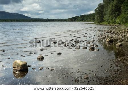 Loch Morlich - stock photo