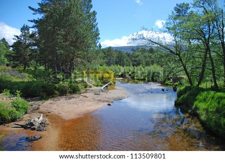 Loch Morlich, Cairngorms, Scotland, UK - stock photo