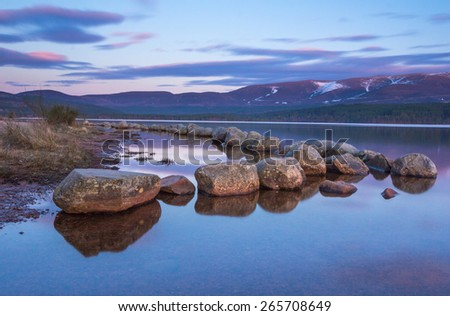 Loch Morlich, Scotland - stock photo