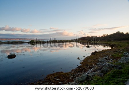 Loch na Mile off the island of Jura - stock photo