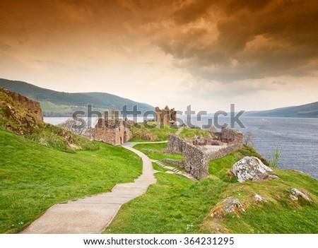 Loch ness - stock photo